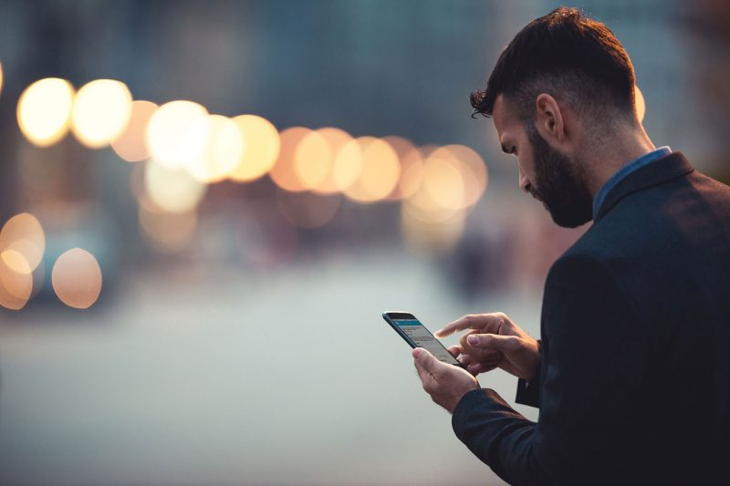 Person on mobile